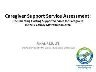 FINAL RESULTS Funding provided by the Greater Twin Cities United Way