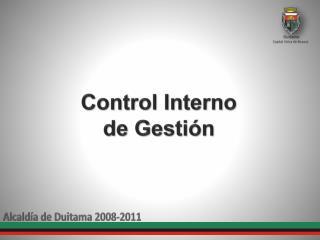 Control Interno de Gesti ón