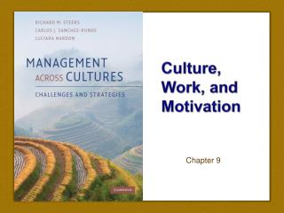 Culture, Work, and Motivation