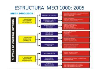ESTRUCTURA  MECI 1000: 2005