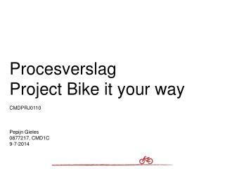 Procesverslag Project Bike it your way CMDPRJ0110