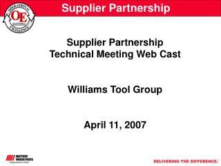 Supplier Partnership