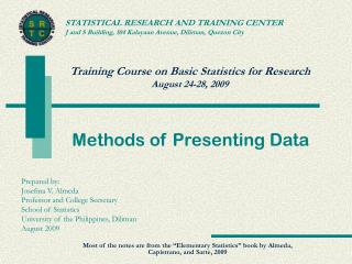 Methods of Presenting Data