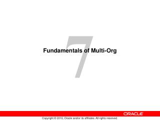 Fundamentals of Multi-Org