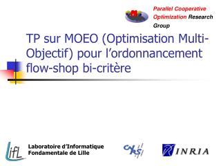 TP sur MOEO (Optimisation Multi-Objectif) pour l'ordonnancement flow-shop bi-critère
