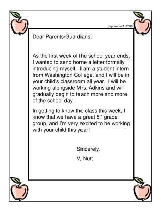 Dear Parents/Guardians,