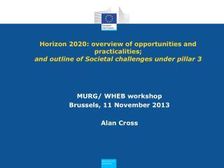 MURG/  WHEB  workshop Brussels, 11 November 2013 Alan Cross