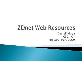 ZDnet  Web Resources