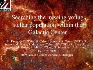 Searching the missing young stellar population within the Galactic Center