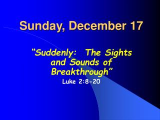 Sunday, December 17