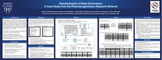 Standardization of Data Dictionaries:  A Case Study from the Pharmacogenomics Research Network