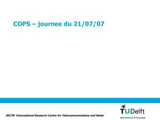 COPS – journee du 21/07/07
