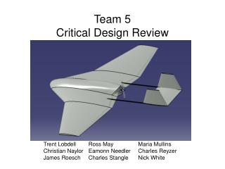 Team 5 Critical Design Review