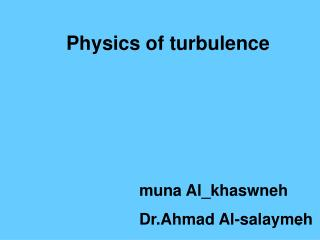 Physics of turbulence