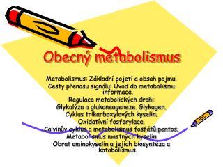 Obecný metabolismus