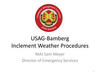 USAG-Bamberg  Inclement Weather Procedures