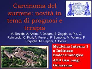 Carcinoma del surrene: novità in tema di prognosi e terapia