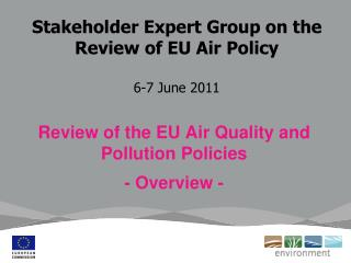 Stakeholder Expert Group on the Review of EU Air Policy 6-7 June 2011