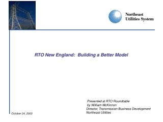 RTO New England:  Building a Better Model