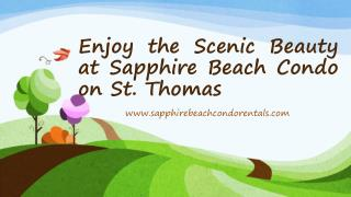 Enjoy the Scenic Beauty at Sapphire Beach Condo on St. Thoma