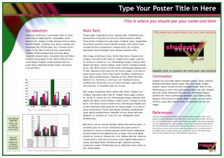 Type Your Poster Title in Here