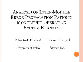 Analysis of Inter-Module Error Propagation Paths in Monolithic Operating System Kernels
