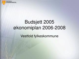 Budsjett 2005 økonomiplan 2006-2008