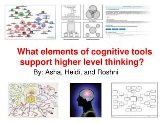 What elements of cognitive tools support higher level thinking?