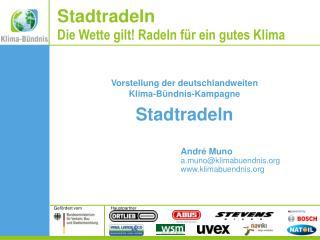 Vorstellung der deutschlandweiten Klima-Bündnis-Kampagne Stadtradeln André Muno