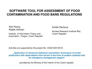 SOFTWARE TOOL FOR ASSESSMENT OF FOOD CONTAMINATION AND FOOD BANS REGULATIONS