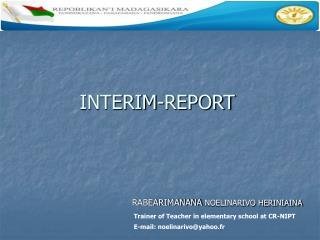 INTERIM-REPORT