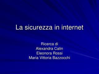 La sicurezza in internet