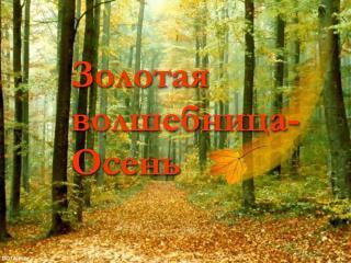 Золотая волшебница-Осень
