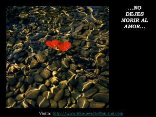...NO DEJES MORIR AL AMOR...