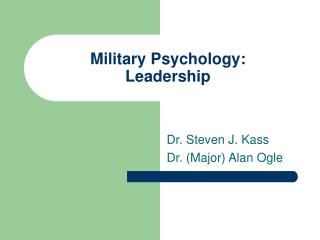 Military Psychology: Leadership