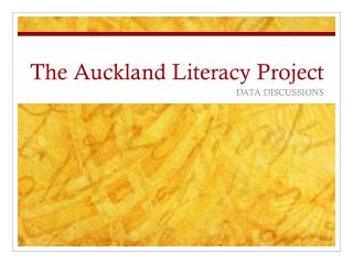 The Auckland Literacy Project