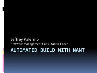 Automated build with nant