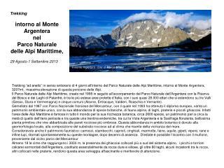 Trekking   intorno al Monte Argentera nel Parco Naturale delle Alpi Marittime,