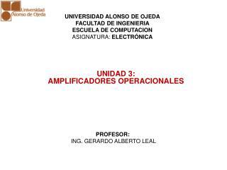 UNIDAD 3: AMPLIFICADORES OPERACIONALES