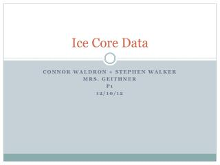 Ice Core Data