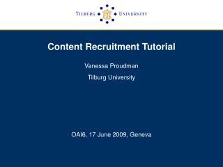 Content Recruitment Tutorial