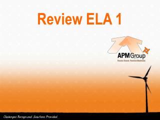 Review ELA 1