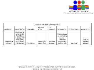 VERSALLES 65  PRIMER PISO,  COLONIA JUÁREZ, DELEGACIÓN CUAHUTÉMOC. 06600, MÉXICO D.F.