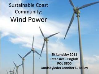 Sustainable Coast Community : Wind Power