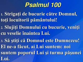 Psalmul 100