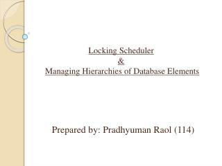 Prepared by:  Pradhyuman Raol  (114)