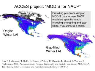 "ACCES project: ""MODIS for NACP"""