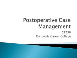 Postoperative Case Management