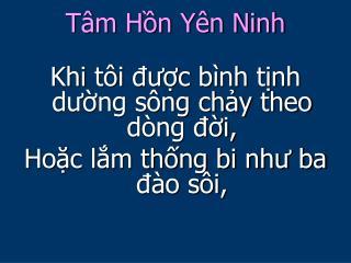 T�m H?n Y�n Ninh