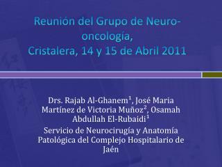 Reunión del Grupo de  Neuro -oncología,  Cristalera, 14 y 15 de Abril 2011